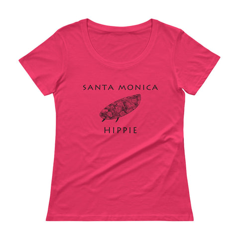 Santa Monica Surf Hippie Women's Scoopneck T-Shirt