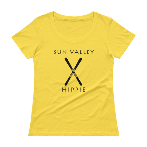 Sun Valley Ski Hippie Women's Scoopneck T-Shirt
