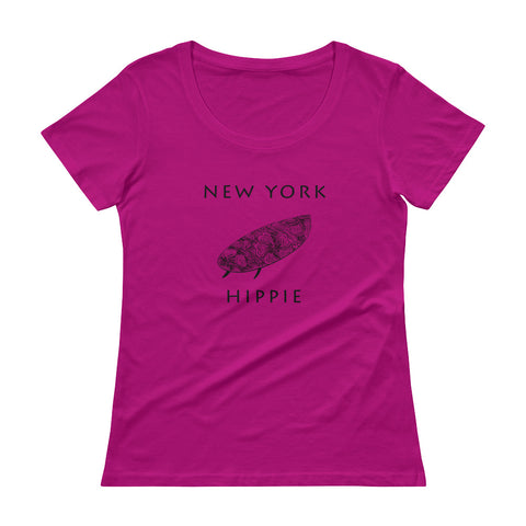 New York Surf Hippie Women's Scoopneck T-Shirt