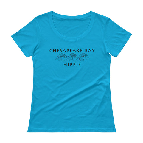 Chesapeake Bay Ocean Hippie™ Women's Scoopneck T-Shirt