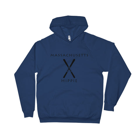 Massachusetts Ski Unisex Fleece Hippie Hoodie