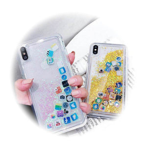 Floating Glitter And Icons IPhone Case