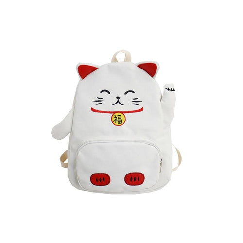 Kawaii Neko And Pig Backpacks