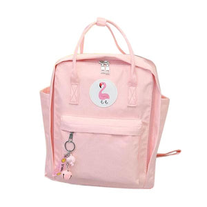 Kawaii Waterproof Flamingo Backpack