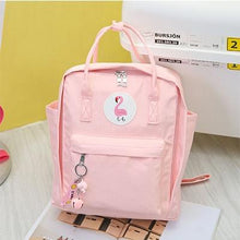 Preppy Waterproof Nylon Women Backpack Fashion Flamingo Female Backpack School Bag For Girls Harajuku Student Bookbag Mochilas