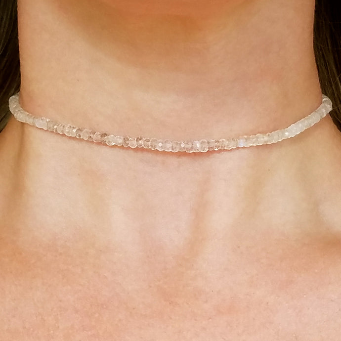 Rainbow Moonstone Gemstone Choker