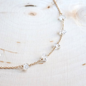 Five Herkimer Diamond Necklace
