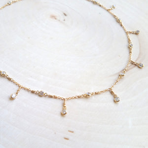 Cubic Zirconia Double Shaker Necklace
