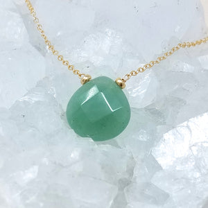 Green Aventurine Drop Necklace