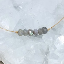 Labradorite Beaded Bar Necklace