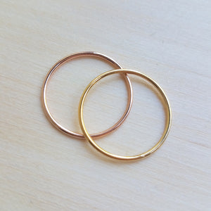 Single Rose Gold Filled Ring WS