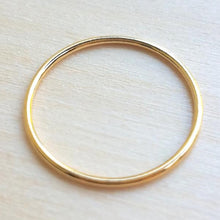 Single Yellow Gold Filled Ring