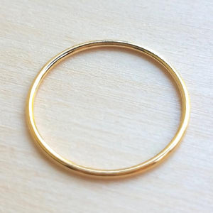 Single Yellow Gold Filled Ring WS