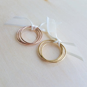 Yellow Gold Filled Stacking Rings
