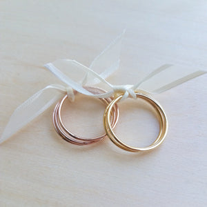 Rose Gold Filled Stacking Rings