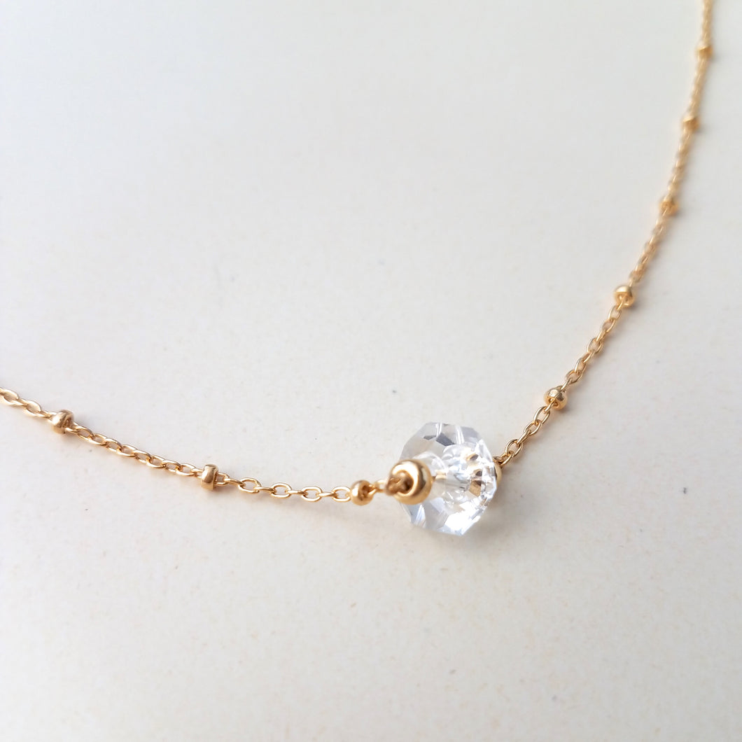 Herkimer Satellite Necklace