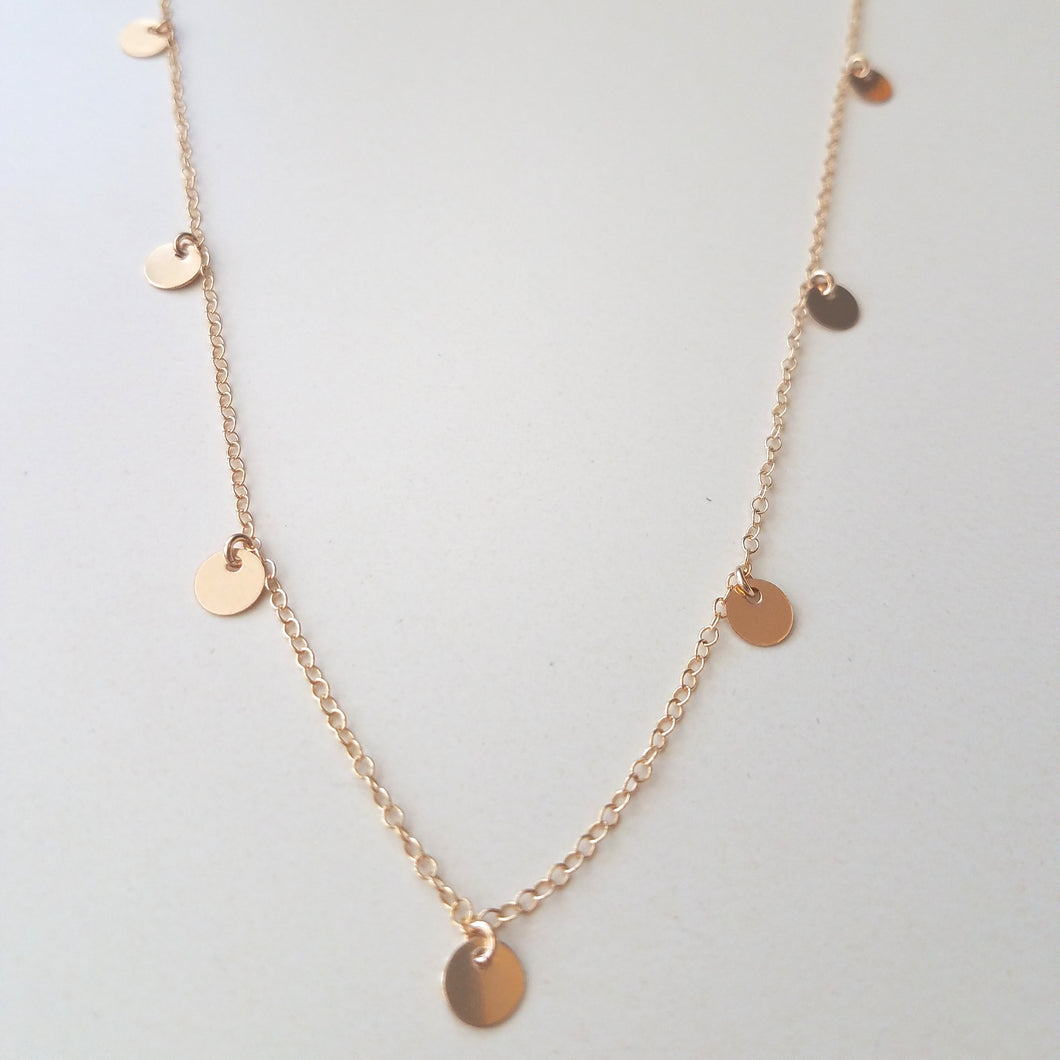 Full Shimmer Disc Necklace