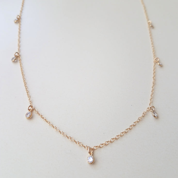 Cubic Zirconia Shaker Necklace