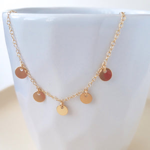 Shimmer Disc Necklace