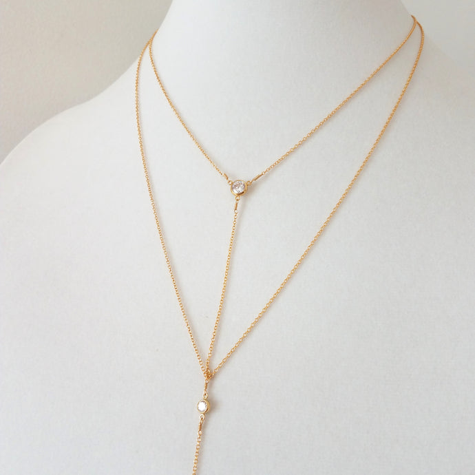Double Y Necklace