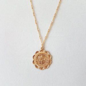 St. Christopher Long Bar Necklace