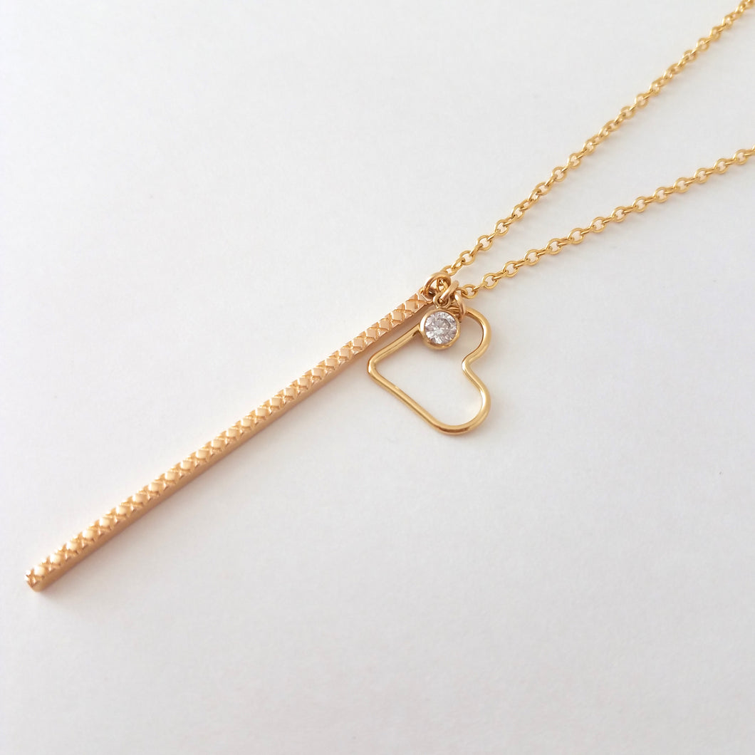 Long Charm Necklace