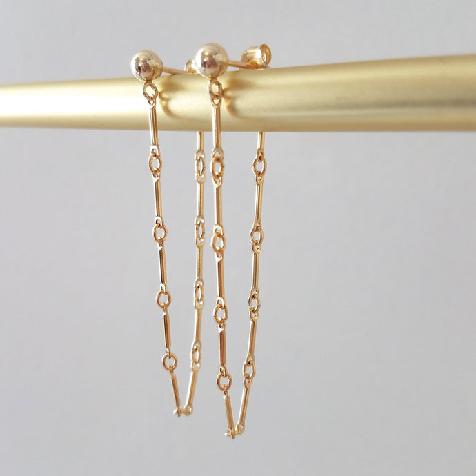 Bar Loop Earrings