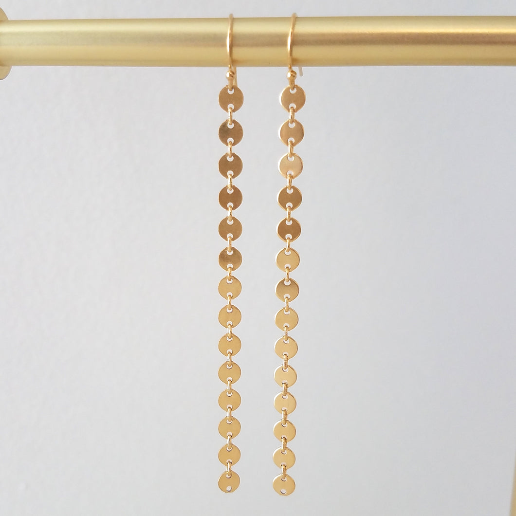Long Coin Earrings