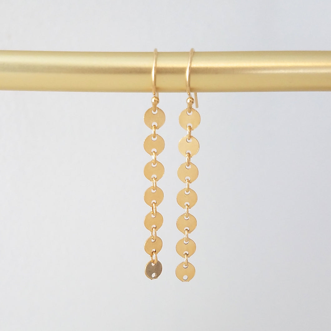 Short Coin Earrings