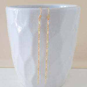 Long Marquis Bar Earrings