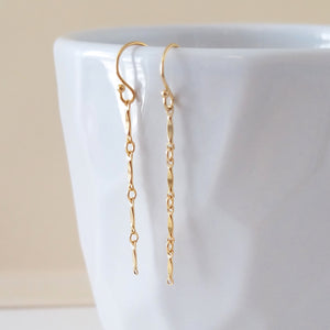 Short Marquis Bar Earrings
