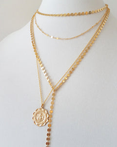 Coin Lariat Necklace
