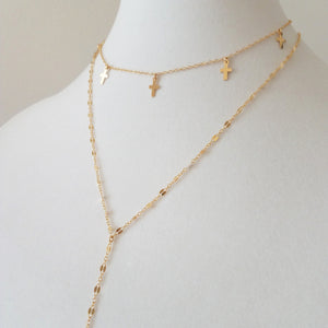 Glitter Lariat Necklace