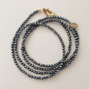 Hematite Sparkle Mask Chain
