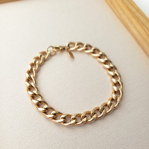 7.2mm Curb Chain Anklet - 50% off with code CURB50