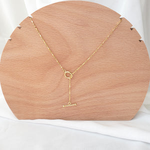 Front Toggle Twisted Necklace
