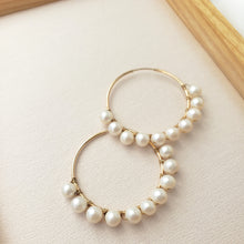 Pearl Wrapped Hoops