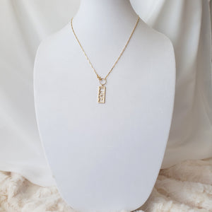 LOVE Twisted Bar Necklace