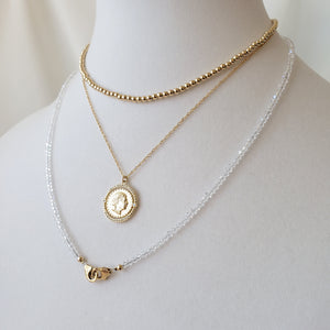 3mm Gold Ball Necklace