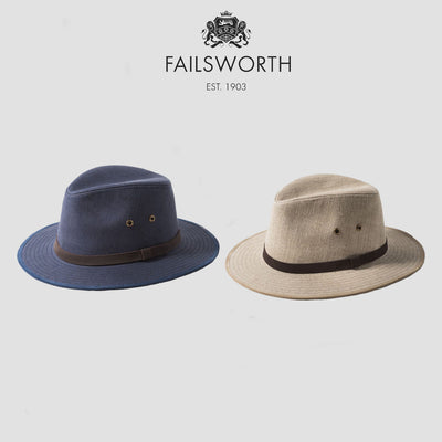 da35ddc7ecf Failsworth Irish Linen Fedora Hat