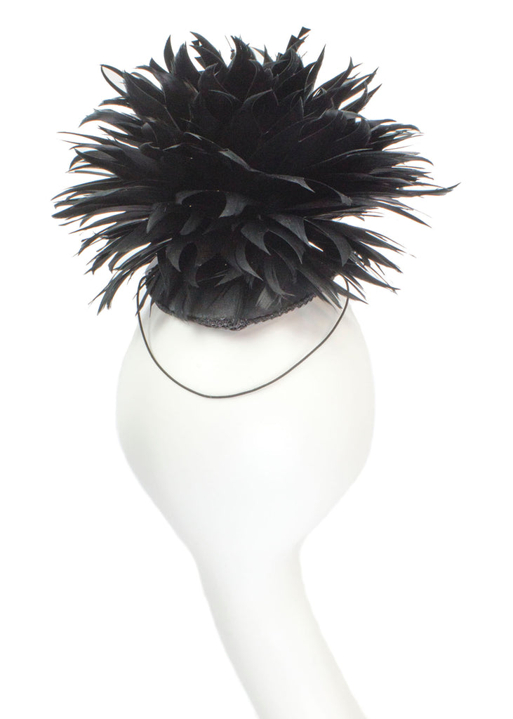 """Raven"" Sculptural Feather Headpiece"