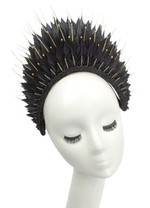 """Black Swan"" Feathered Crown"