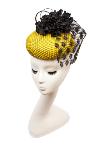 Yellow Honeycomb with Vintage Veil