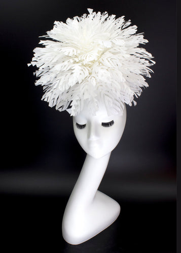 Snowball Feather Headpiece