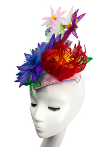 GARDEN BOUQUET - Sculpted Crinoline Headpiece