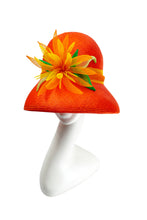 SUNSHINE DAYDREAM - Orange Bucket Hat with Crinoline Detail