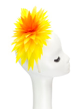 "Lotus Feather Flower Headband ""Sunburst"""