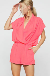 Stop For Nothing Neon Pink Romper - ReservedChic