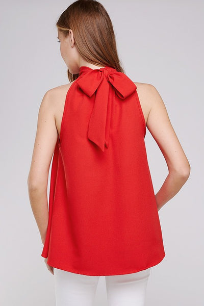 Emily Halter Top in Red - ReservedChic