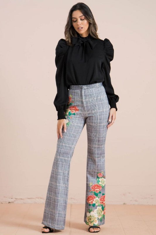 Plaid Wide Leg Pants - ReservedChic